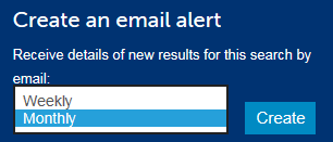 Create email alert