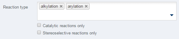 Multiple reaction type selected